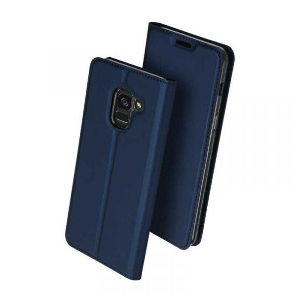 Husa Samsung Galaxy J6 2018 Toc Flip Tip Carte Portofel Bleumarin Piele Eco Premium DuxDucis 0