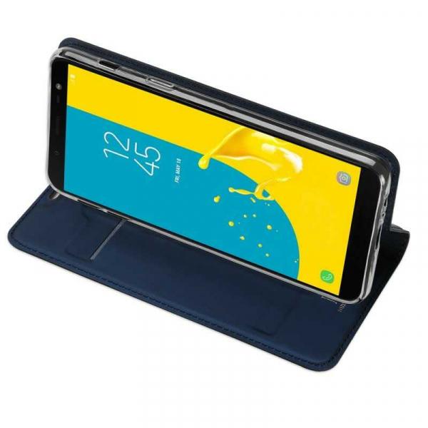Husa Samsung Galaxy J6 2018 Toc Flip Tip Carte Portofel Bleumarin Piele Eco Premium DuxDucis 2