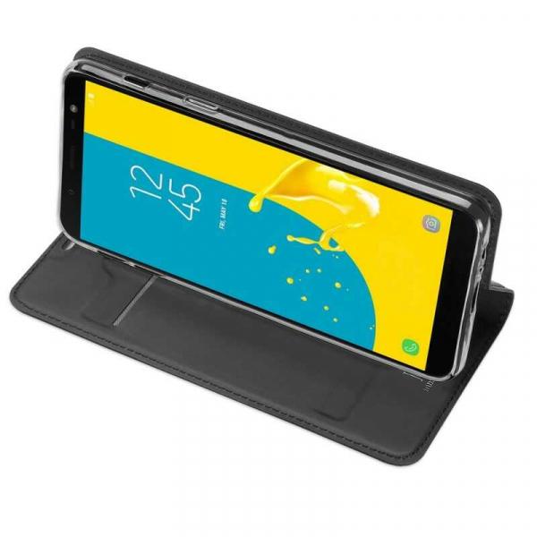Husa Samsung Galaxy J6 2018 Toc Flip Tip Carte Portofel Negru Piele Eco Premium DuxDucis [2]