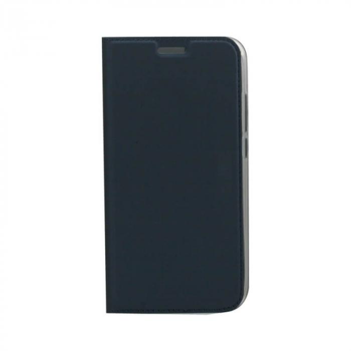 Husa Flip Samsung Galaxy J6 Plus 2018 Tip Carte Albastru Focus 0
