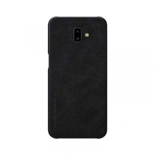 Husa Samsung Galaxy J6 Plus 2018 Negru Toc Flip Nillkin Qin Piele Eco Premium Tip Carte Portofel 1