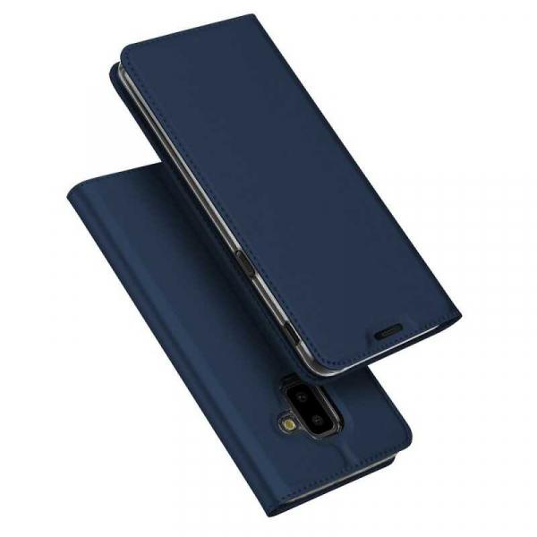 Husa Samsung Galaxy J6 Plus 2018 Toc Flip Tip Carte Portofel Bleumarin Piele Eco Premium DuxDucis 4