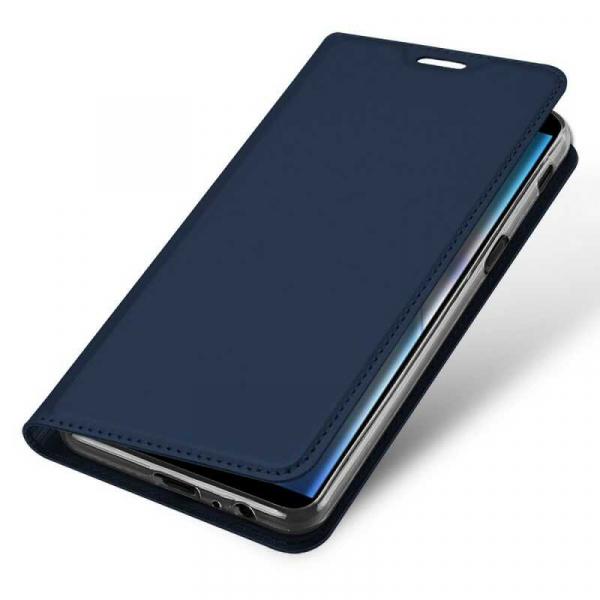 Husa Samsung Galaxy J6 Plus 2018 Toc Flip Tip Carte Portofel Bleumarin Piele Eco Premium DuxDucis 3