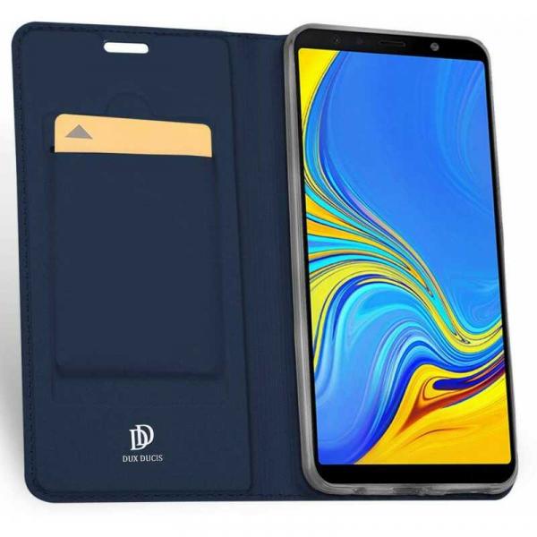 Husa Samsung Galaxy J6 Plus 2018 Toc Flip Tip Carte Portofel Bleumarin Piele Eco Premium DuxDucis 1