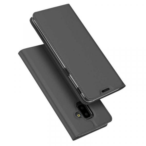 Husa Samsung Galaxy J6 Plus 2018 Toc Flip Tip Carte Portofel Negru Piele Eco Premium DuxDucis 4