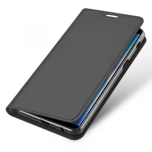 Husa Samsung Galaxy J6 Plus 2018 Toc Flip Tip Carte Portofel Negru Piele Eco Premium DuxDucis 3