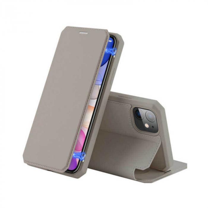 Husa Samsung Galaxy Note 10 Flip Tip Carte Auriu Piele Eco X-Skin [0]