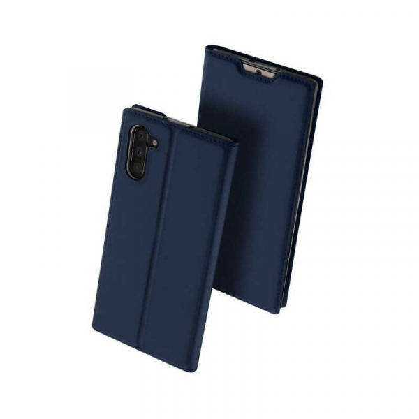 Husa Samsung Galaxy Note 10 2019 Toc Flip Portofel Bleumarin Piele Eco DuxDucis 0