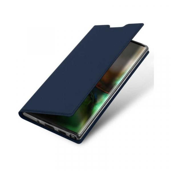 Husa Samsung Galaxy Note 10 2019 Toc Flip Portofel Bleumarin Piele Eco DuxDucis 3