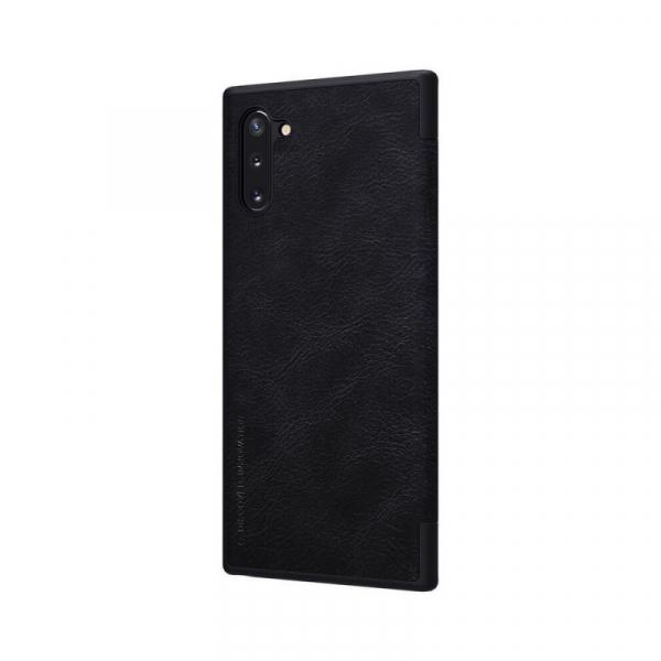 Husa Samsung Galaxy Note 10 Plus 2019 Negru Toc Flip Nillkin Qin Piele Eco Premium Tip Carte Portofel 6