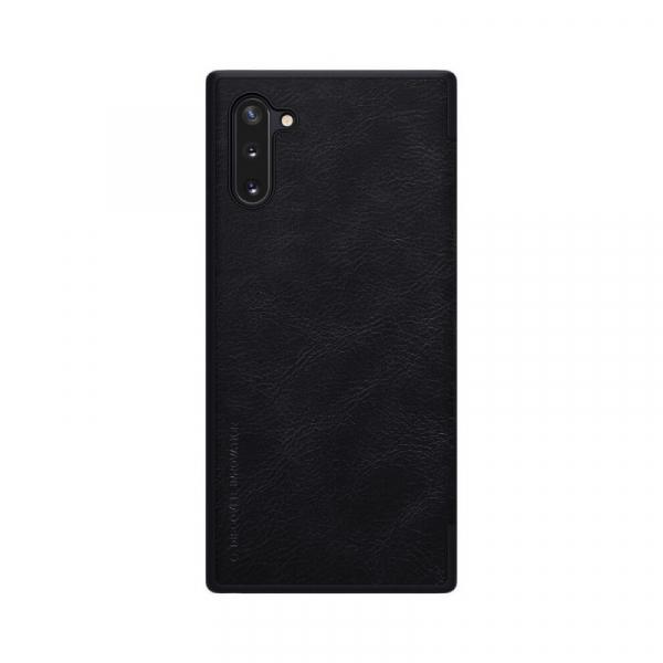 Husa Samsung Galaxy Note 10 Plus 2019 Negru Toc Flip Nillkin Qin Piele Eco Premium Tip Carte Portofel 1