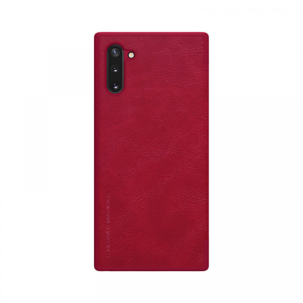 Husa Samsung Galaxy Note 10 Plus 2019 Rosu Toc Flip Nillkin Qin Piele Eco Premium Tip Carte Portofel 1