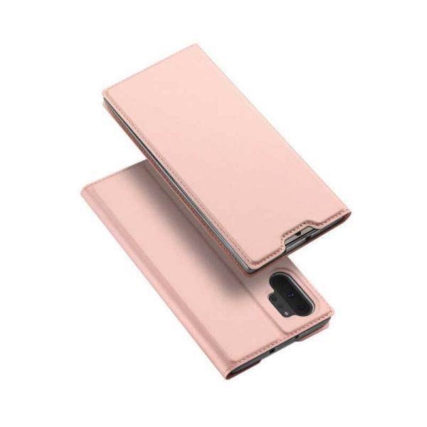 Husa Samsung Galaxy Note 10 Plus 2019 Toc Flip Portofel Roz Piele Eco DuxDucis 4