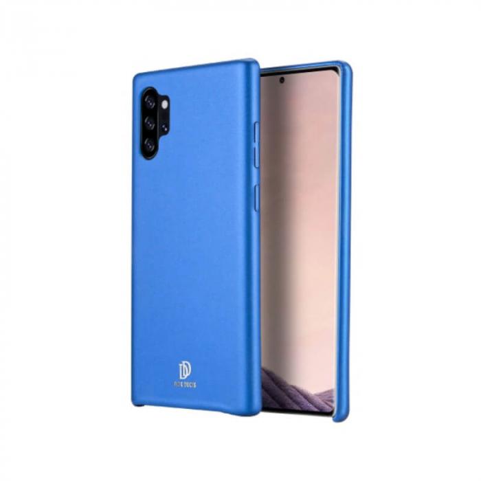 Husa Samsung Galaxy Note 10 Silicon si Piele Eco Albastru SkinLite DuxDucis 0