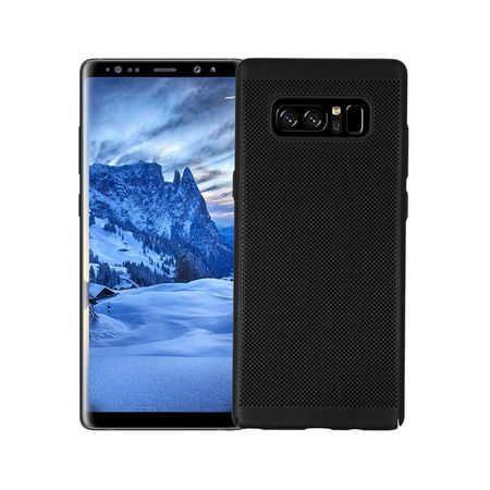 Husa Samsung Galaxy Note 8 2017 Carcasa Spate Perforata Negru 0