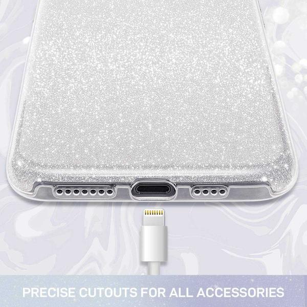Husa Samsung Galaxy S10 2019 Color Silicon TPU Carcasa Sclipici Argintiu [1]