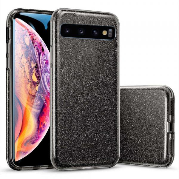 Husa Samsung Galaxy S10 2019 Color Silicon TPU Carcasa Sclipici Negru 0