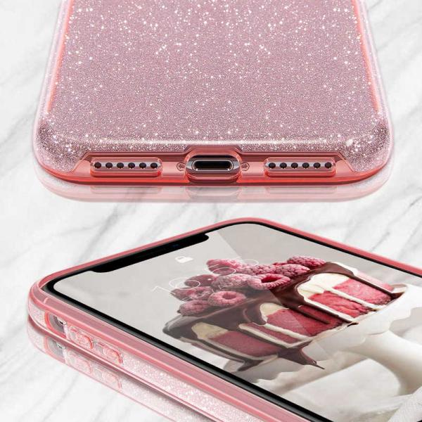 Husa Samsung Galaxy S10 2019 Color Silicon TPU Carcasa Sclipici Roz 1