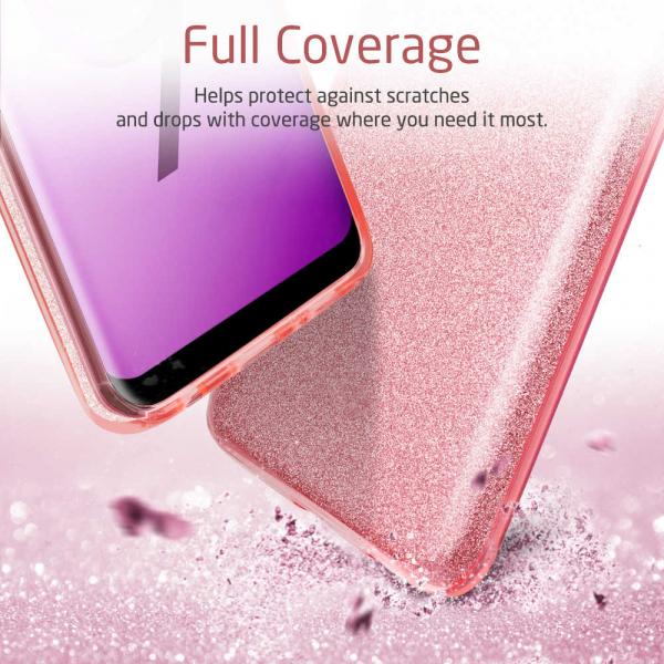 Husa Samsung Galaxy S10 2019 Color Silicon TPU Carcasa Sclipici Roz 3