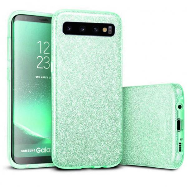 Husa Samsung Galaxy S10 2019 Color Silicon TPU Carcasa Sclipici Verde 0