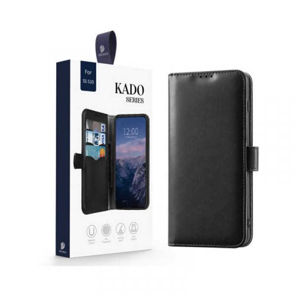 Husa Samsung Galaxy S10 2019 Toc Flip Tip Carte Portofel Negru Piele Eco Premium DuxDucis Kado [7]
