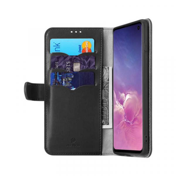 Husa Samsung Galaxy S10 2019 Toc Flip Tip Carte Portofel Negru Piele Eco Premium DuxDucis Kado [1]