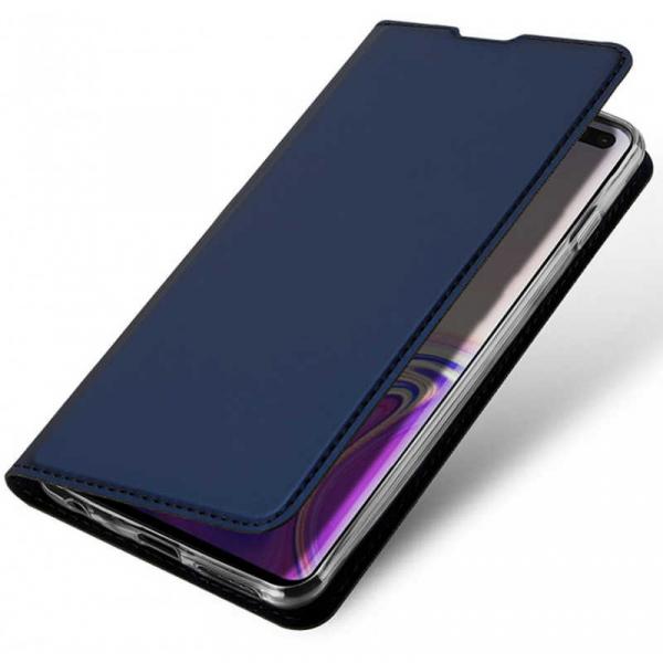 Husa Samsung Galaxy S10 2019 Toc Flip Tip Carte Portofel Piele Eco Premium DuxDucis Albastru [3]
