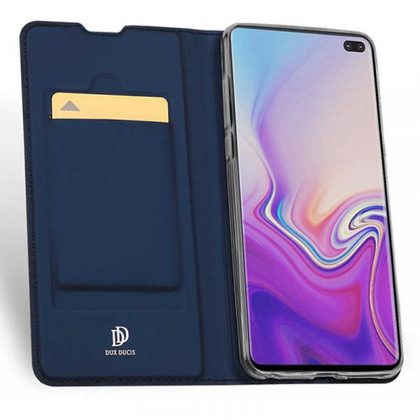 Husa Samsung Galaxy S10 2019 Toc Flip Tip Carte Portofel Piele Eco Premium DuxDucis Albastru [1]