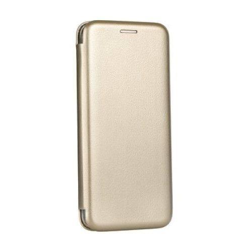 Husa Samsung Galaxy S10 Plus 2019 Tip Carte Gold Flip Cover din Piele Ecologica Portofel cu Inchidere Magnetica Auriu [0]