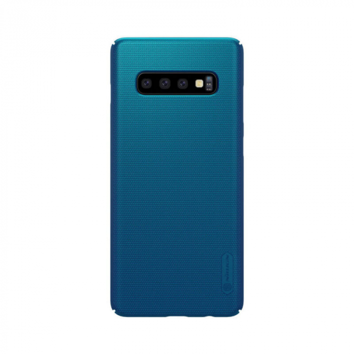 Husa Samsung Galaxy S10 Plus Albastru Nillkin Frosted 0