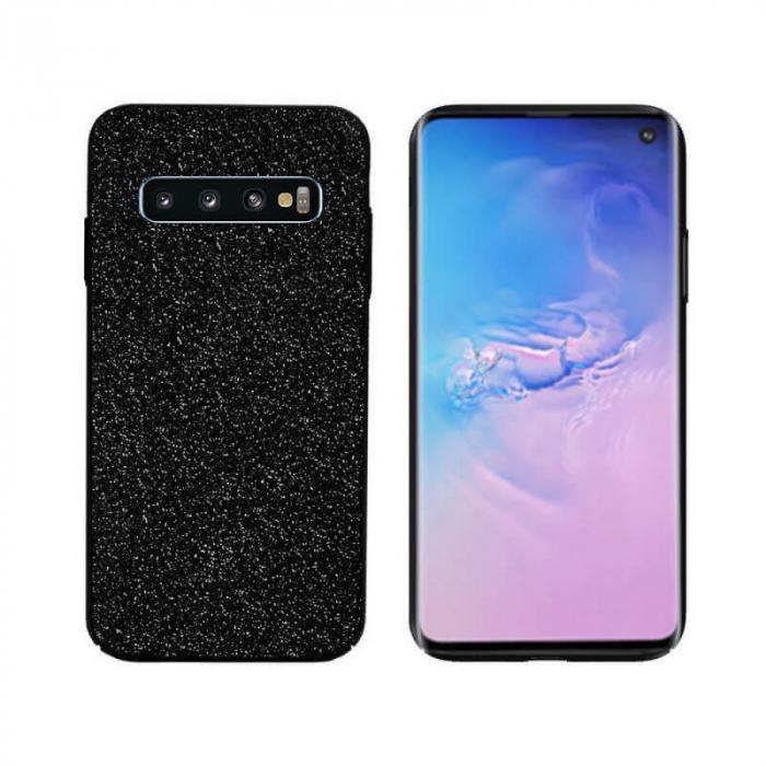 Husa Samsung Galaxy S10 Sclipici Negru Carcasa Spate Dot [0]