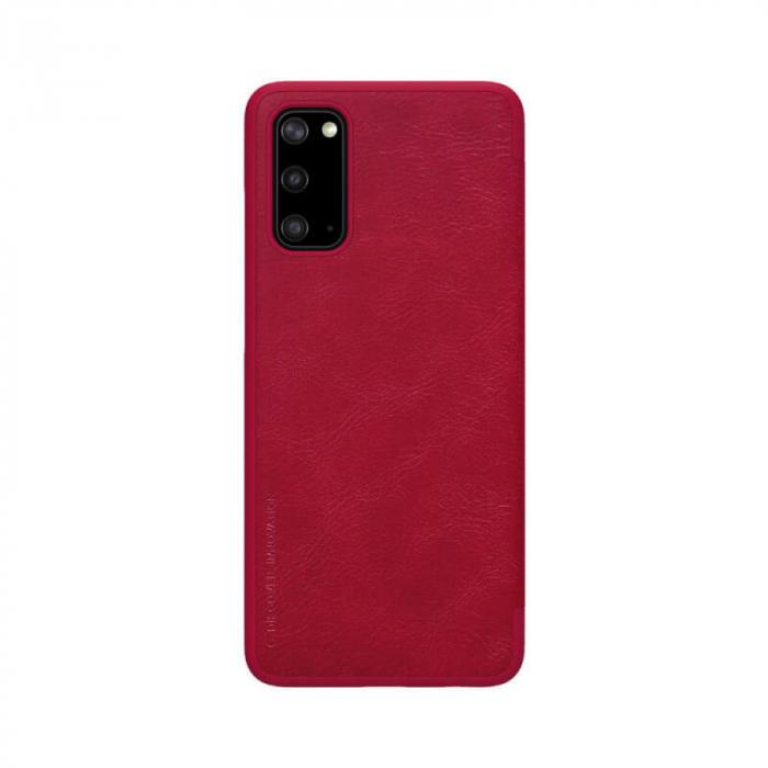 Husa Samsung Galaxy S20 2020 Rosu Toc Flip Nillkin Qin Piele Eco Premium Tip Carte Portofel 2