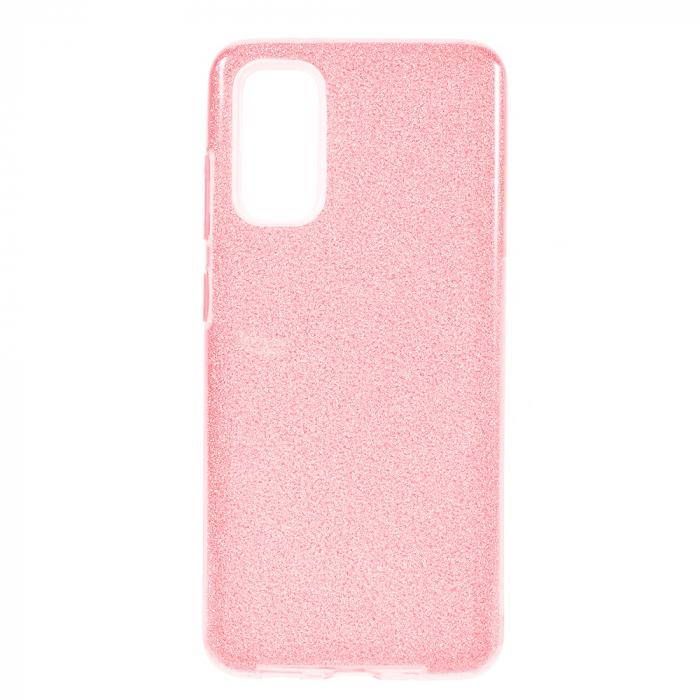 Husa Samsung Galaxy S20 2020 Sclipici Carcasa Spate Roz Silicon TPU [0]