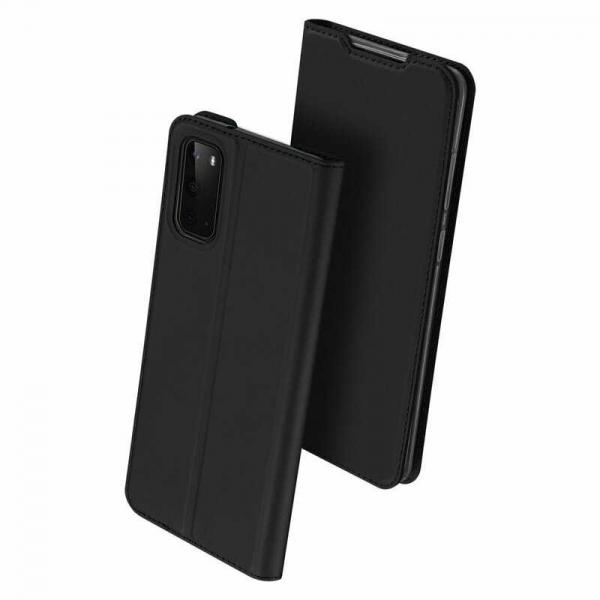 Husa Samsung Galaxy S20 2020 Toc Flip Tip Carte Portofel Piele Eco Premium DuxDucis Negru 0