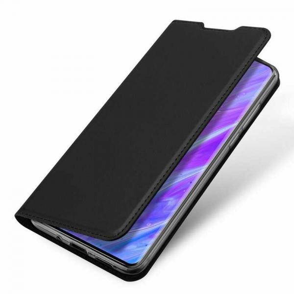Husa Samsung Galaxy S20 2020 Toc Flip Tip Carte Portofel Piele Eco Premium DuxDucis Negru 3