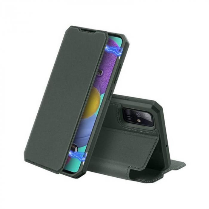 Husa Samsung Galaxy S20 2020 Toc Flip Tip Carte Portofel Verde Piele Eco X-Skin 0