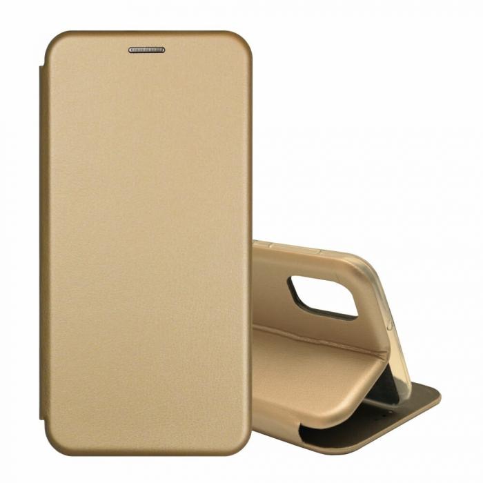 Husa Samsung Galaxy S20 FE Auriu Gold Tip Carte Flip Cover din Piele Ecologica Portofel cu Inchidere Magnetica 1