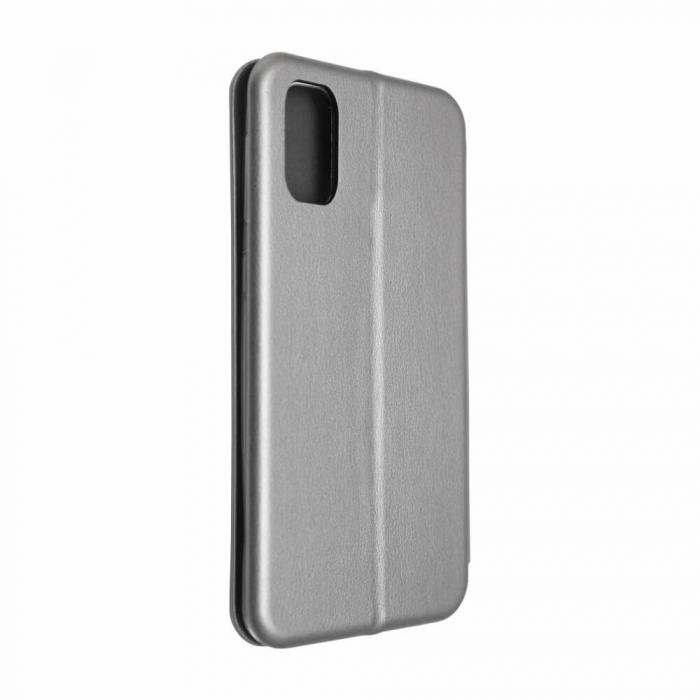 Husa Samsung Galaxy S20 FE Gri Tip Carte Flip Cover din Piele Ecologica Portofel cu Inchidere Magnetica 3