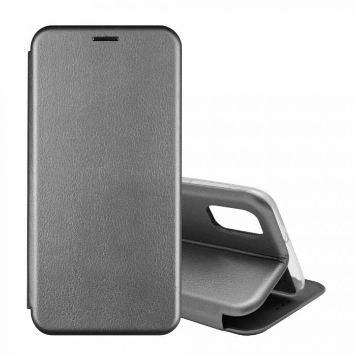 Husa Samsung Galaxy S20 FE Gri Tip Carte Flip Cover din Piele Ecologica Portofel cu Inchidere Magnetica 1
