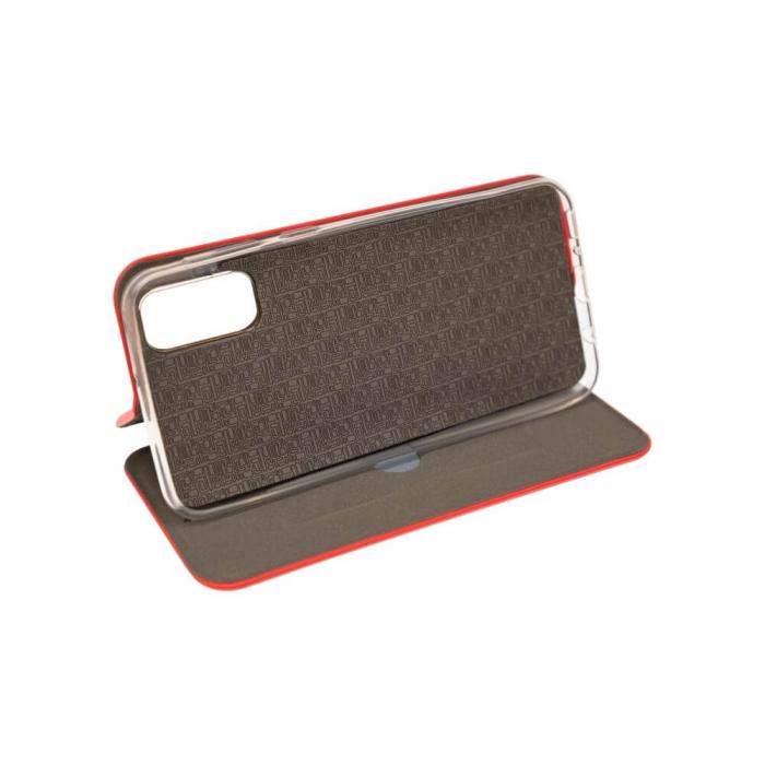 Husa Samsung Galaxy S20 FE Rosu Tip Carte Flip Cover din Piele Ecologica Portofel cu Inchidere Magnetica 2