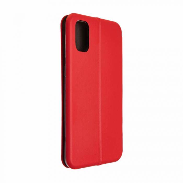 Husa Samsung Galaxy S20 FE Rosu Tip Carte Flip Cover din Piele Ecologica Portofel cu Inchidere Magnetica 3