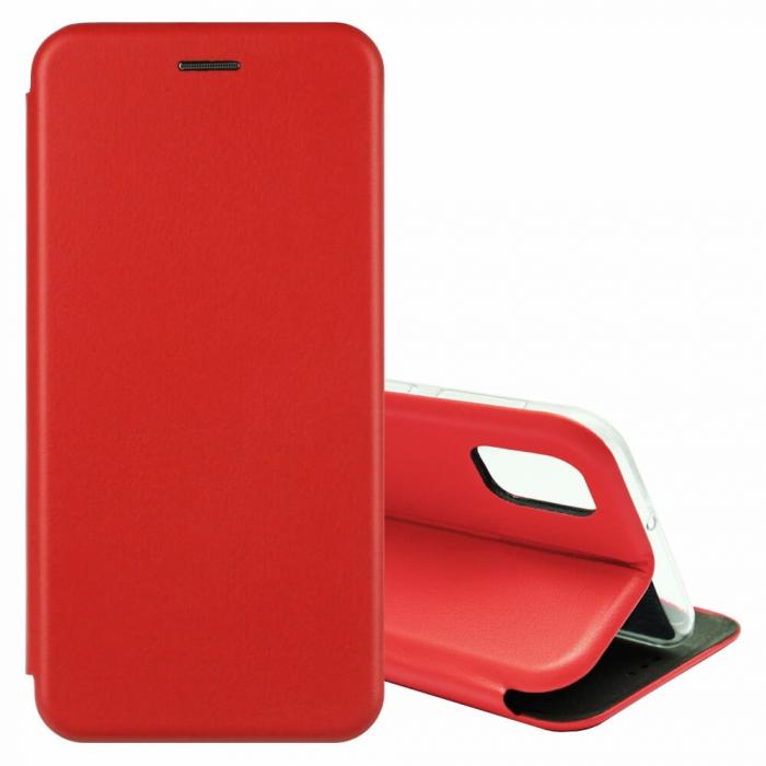 Husa Samsung Galaxy S20 FE Rosu Tip Carte Flip Cover din Piele Ecologica Portofel cu Inchidere Magnetica 1