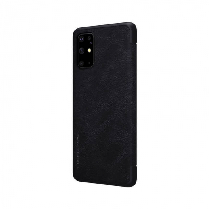 Husa Samsung Galaxy S20 Plus 2020 Negru Toc Flip Nillkin Qin Piele Eco Premium Tip Carte Portofel 3
