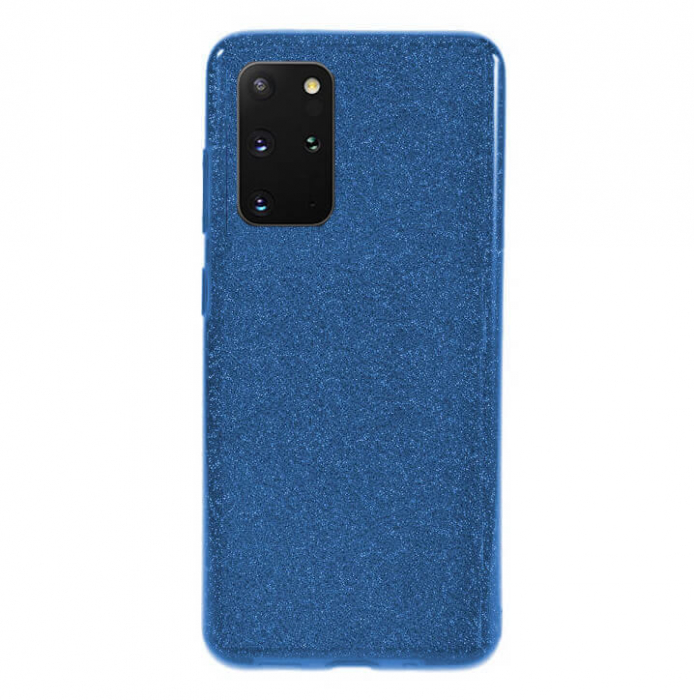 Husa Samsung Galaxy S20 Plus 2020 Sclipici Carcasa Spate Albastru Silicon TPU [0]