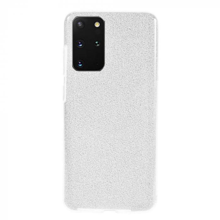 Husa Samsung Galaxy S20 Plus 2020 Sclipici Carcasa Spate Argintiu Silicon TPU 0