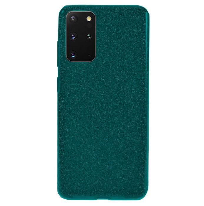 Husa Samsung Galaxy S20 Plus 2020 Sclipici Carcasa Spate Dark Green Silicon TPU 0