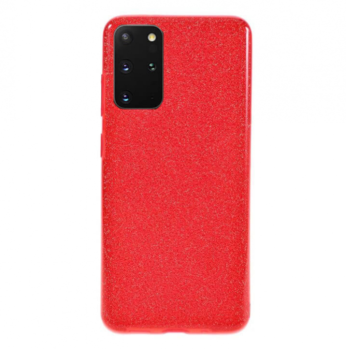 Husa Samsung Galaxy S20 Plus 2020 Sclipici Carcasa Spate Rosu Silicon TPU [0]