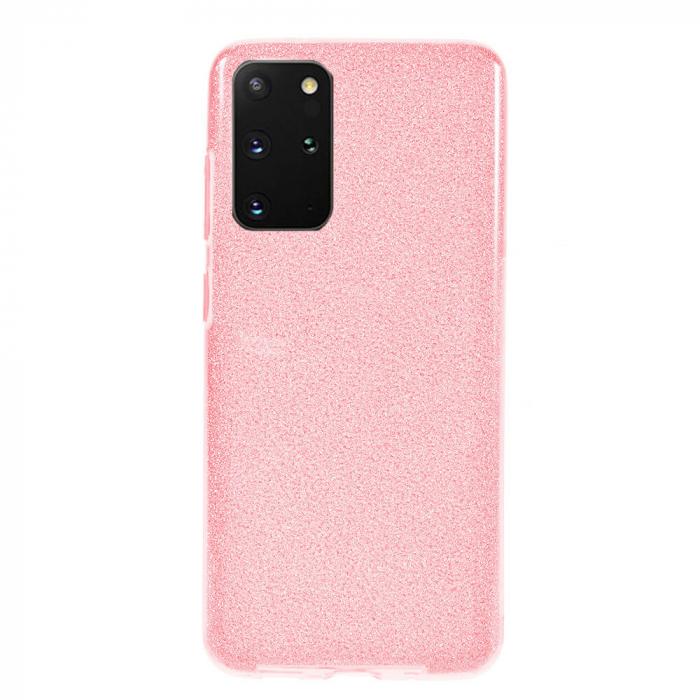 Husa Samsung Galaxy S20 Plus 2020 Sclipici Carcasa Spate Roz Silicon TPU 0