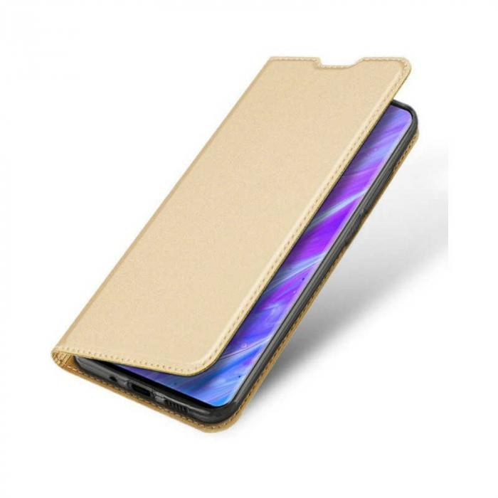 Husa Samsung Galaxy S20 Plus 2020 Toc Flip Tip Carte Portofel Auriu Gold Piele Eco DuxDucis 3