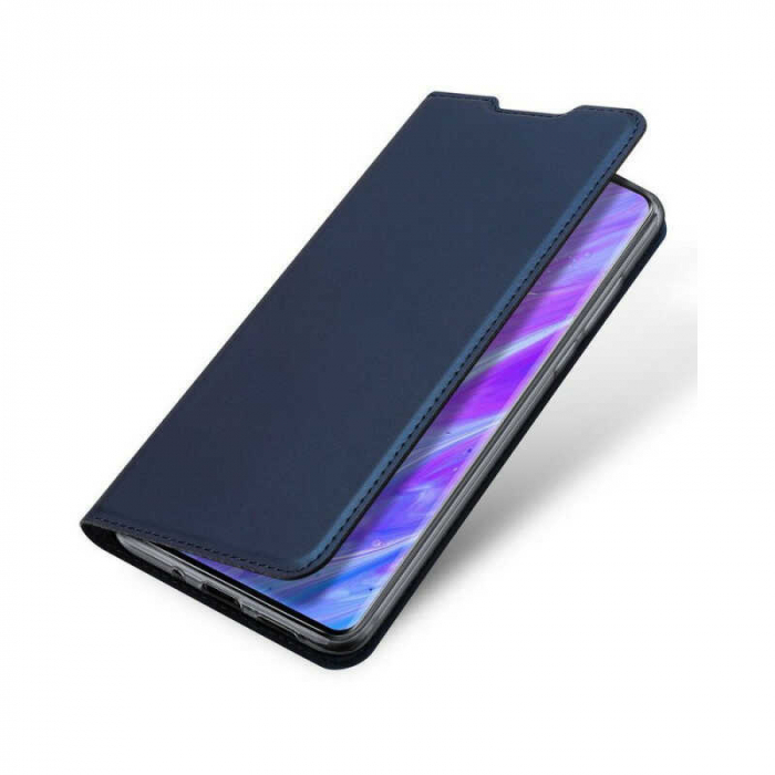 Husa Samsung Galaxy S20 Plus 2020 Toc Flip Tip Carte Portofel Bleumarin Piele Eco DuxDucis [3]